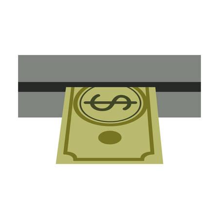 automatic transaction machine: retirar dinero de cajeros automáticos ilustración vectorial ranura Vectores