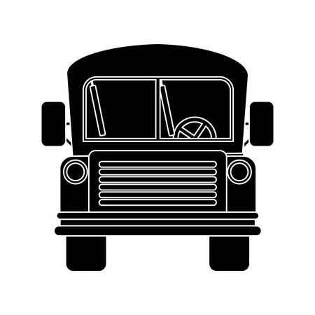 buss: front view school bus with wheels vector illustration Illustration