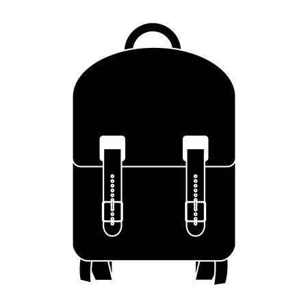 handgrip: black silhouette suitcase with wheels and handle vector illustration Illustration
