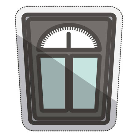 dieting: Scale icon. Weight measure diet balance and fitness theme. Isolated design. Vector illustration Illustration