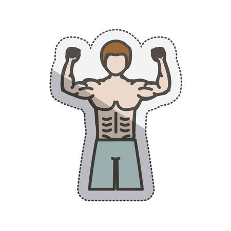 Avatar man icon. Healthy lifestyle fitness and sport theme. Isolated design. Vector illustration Illustration