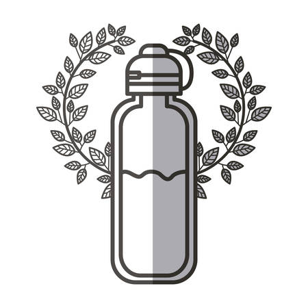 Bottle of water icon. Drink mineral liquid fresh and health theme. Isolated design. Vector illustration