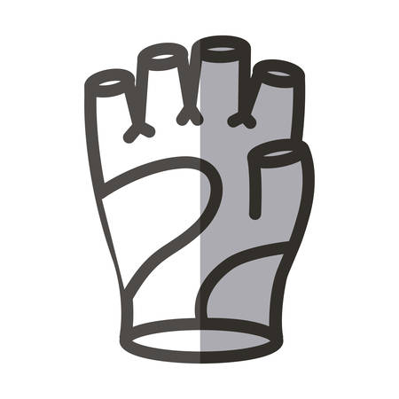 doctor gloves: Glove icon. Healthy lifestyle fitness and sport theme. Isolated design. Vector illustration