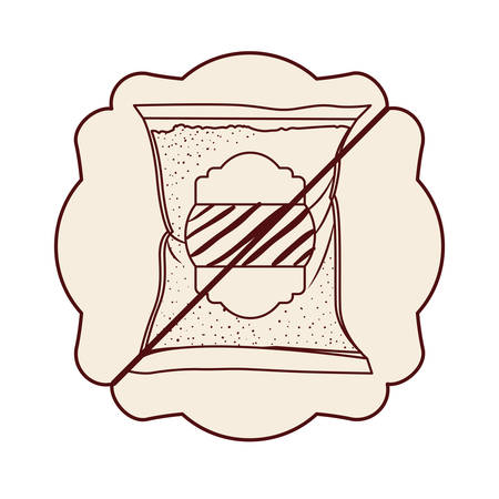 Frame of sugar free icon. Dessert sweet candy food and organic theme. Isolated design. Vector illustration