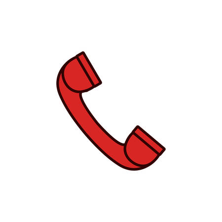 receiver: Phone device icon. Call telephone communication and contact theme. Isolated design. Vector illustration Illustration