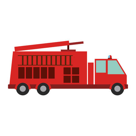 emergency response: Fire truck vehicle icon. Emergency tool rescue save and department theme. Isolated design. Vector illustration Illustration