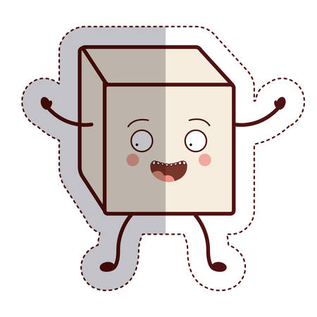 sugar cube: Sugar cube icon. Dessert sweet candy food and organic theme. Isolated design. Vector illustration
