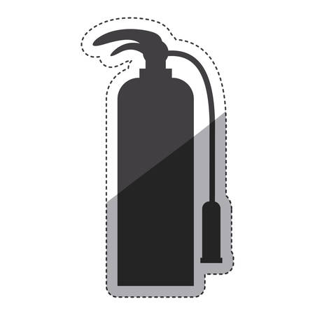 emergency response: Extinguisher icon. Emergency tool rescue save and department theme. Isolated design. Vector illustration