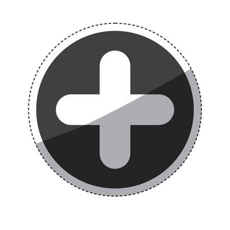cross shape: Cross shape icon. Medical health care hospital and emergency theme. Isolated design. Vector illustration Illustration