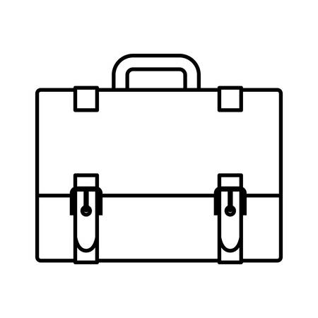Suitcase icon. Business travel baggage and lugagge theme. Isolated design. Vector illustration Illustration