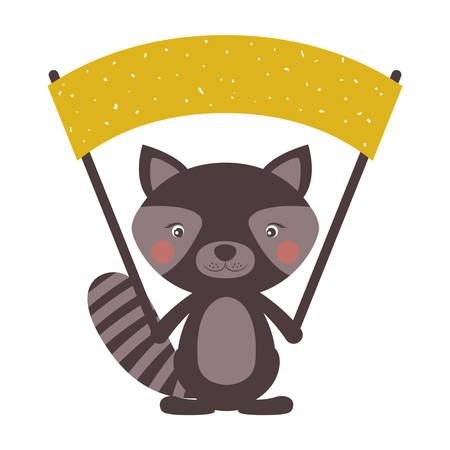Raccoon cartoon icon. Animal cute adorable creature and friendly theme. Isolated design. Vector illustration