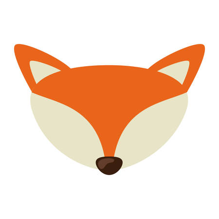 Fox cartoon icon. Animal cute adorable creature and friendly theme. Isolated design. Vector illustration