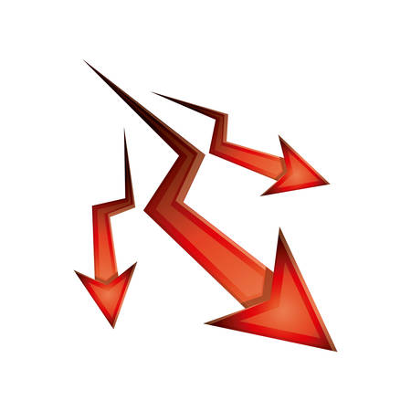 orientation marker: Decrease arrow icon. Direction web and infographic theme. Isolated design. Vector illustration