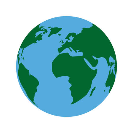 Planet sphere icon. Continent earth world and globe theme. Isolated design. Vector illustration