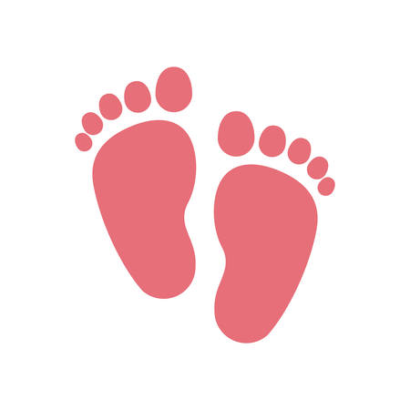 foot print: Foot print icon. Baby object child childhood infant theme. Isolated design. Vector illustration