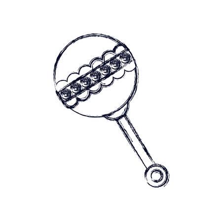 maraca: Maraca icon. Baby object child childhood infant theme. Isolated design. Vector illustration Illustration