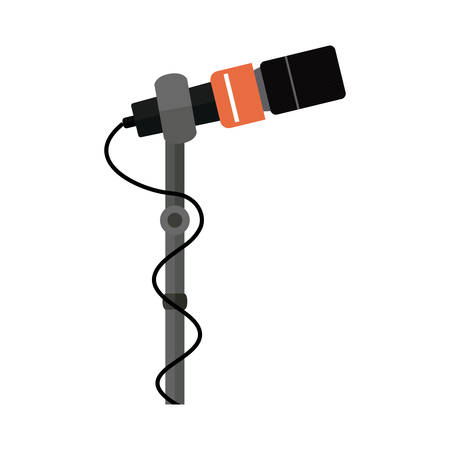broadcasting: Microphone device icon. Broadcasting journalism news technology media and studio theme. Isolated design. Vector illustration Illustration