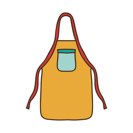 specific clothing: silhouette colorful with kitchen apron vector illustration Illustration