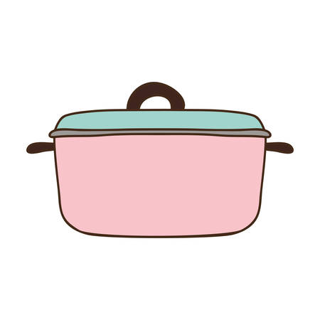 silhouette colorful with pink pans vector illustration