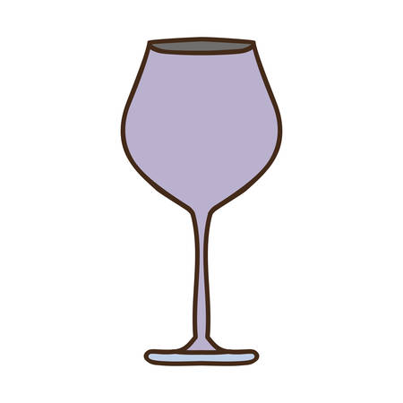 sour: silhouette colorful with glass of champagne sour vector illustration