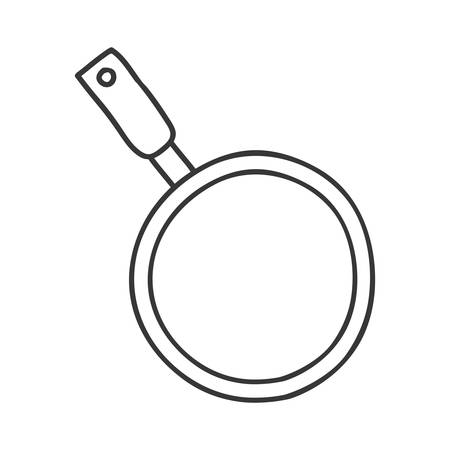 handling: silhouette monochrome with pans with handling vector illustration Illustration