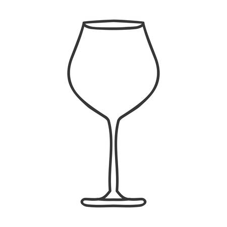 sour: silhouette monochrome with glass of champagne sour vector illustration Illustration