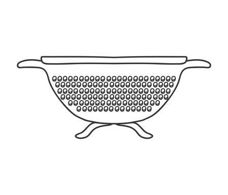 drainer: silhouette monochrome with kitchen drainer vector illustration Illustration