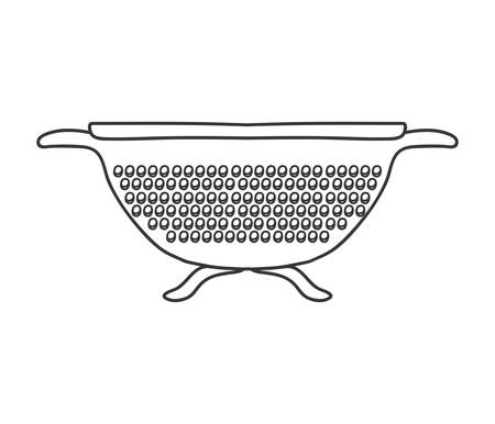 silhouette monochrome with kitchen drainer vector illustration Illustration