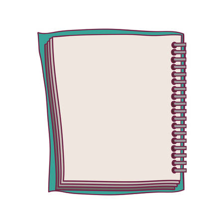 spiral notebook: colorful notebook spiral with sheets vector illustration