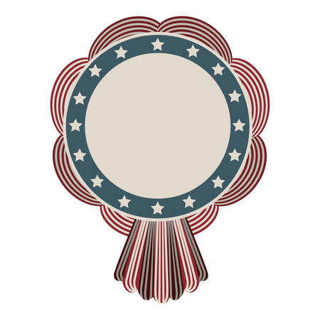 stamp with american flag design vector illustration