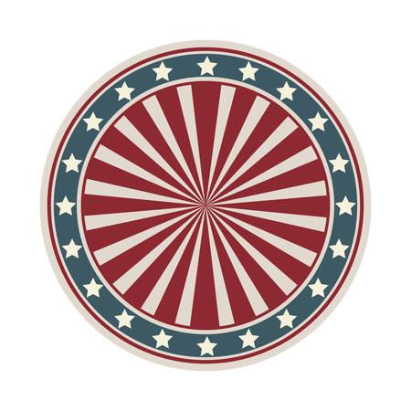 Dartboard with american flag desing vector illustration Illustration