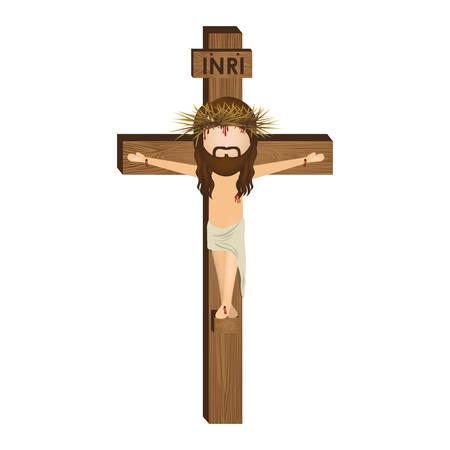 nazareth: avatar crucifixion of Jesus Christ vector illustration