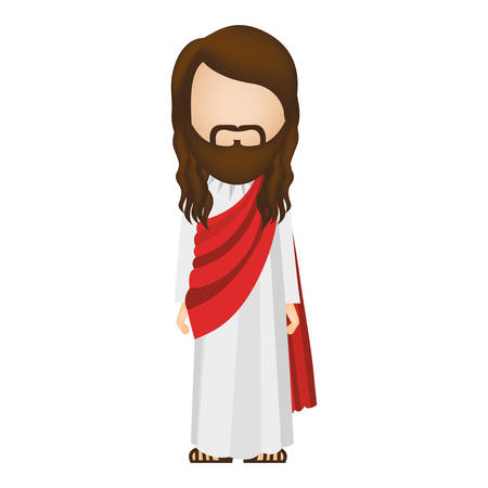 avatar figure human of jesus christ vector illustration Illustration