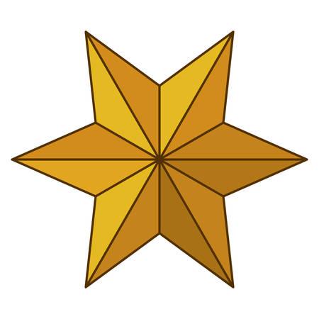 nativety: Star icon. Nativity merry christmas season and decoration theme. Isolated design. Vector illustration Illustration