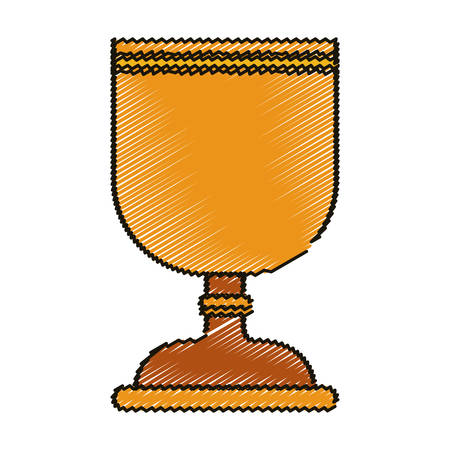believe: Cup icon. Religion god pray faith and believe theme. Isolated design. Vector illustration