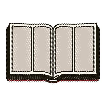 believe: Bible icon. Religion god pray faith and believe theme. Isolated design. Vector illustration
