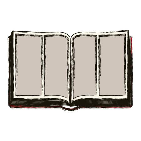 faithful: Bible icon. Religion god pray faith and believe theme. Isolated design. Vector illustration