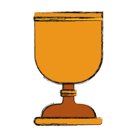 faithful: Cup icon. Religion god pray faith and believe theme. Isolated design. Vector illustration