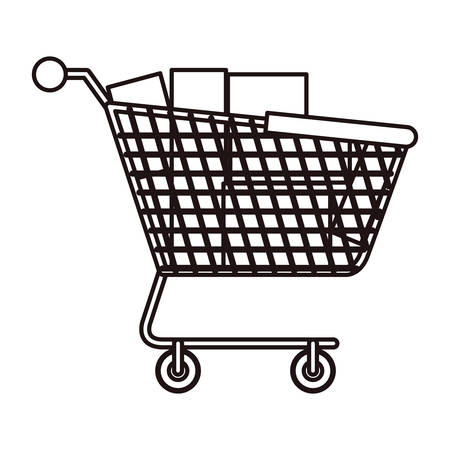 Shopping cart icon. Commerce market store and shop theme. Isolated design. Vector illustration