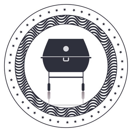 roasted: Grill icon. Bbq menu steak house food meal restaurant and barbecue theme. Isolated design. Vector illustration Illustration