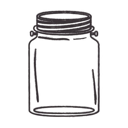 canning: Mason jar icon. Retro vintage decoration and canning theme. Isolated design. Vector illustration