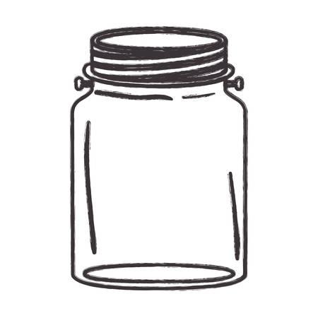 mason: Mason jar icon. Retro vintage decoration and canning theme. Isolated design. Vector illustration