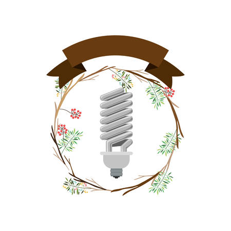 Light bulb icon. Energy power technology and electricity theme. Isolated design. Vector illustration