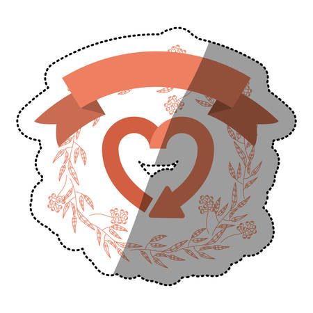 Recycle heart sign icon. Ecology renewable conservation and alternative theme. Isolated design. Vector illustration Illustration