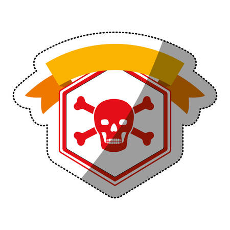 File icon. Security system warning protection and danger theme. Isolated design. Vector illustration