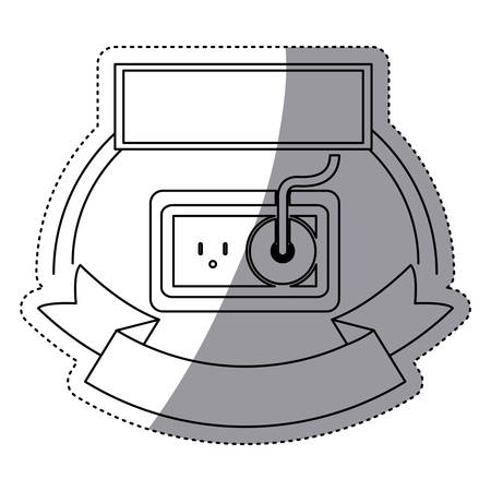 accumulator: Plug sign icon. Energy power technology and charge theme. Isolated design. Vector illustration