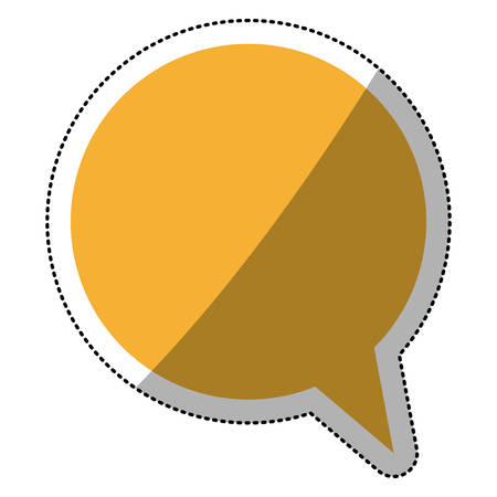 Bubble icon. Communication message discussion and conversation theme. Isolated design. Vector illustration Illustration