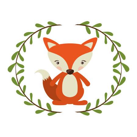 Fox cartoon icon. Animal cute life and nature theme. Isolated design. Vector illustration Illustration