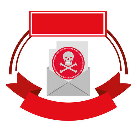 Skull icon. Security system warning protection and danger theme. Isolated design. Vector illustration