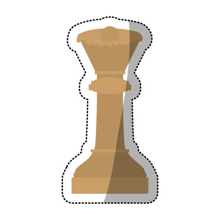 Chess piece icon. Game strategy competition and leisure theme. Isolated design. Vector illustration